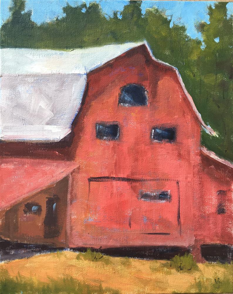 """Red Barn"" original fine art by Victoria  Biedron"