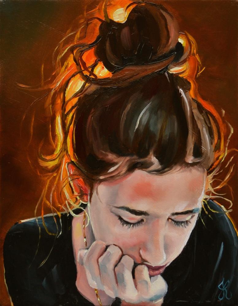 """Glowing beauty"" original fine art by Jacinthe Rivard"