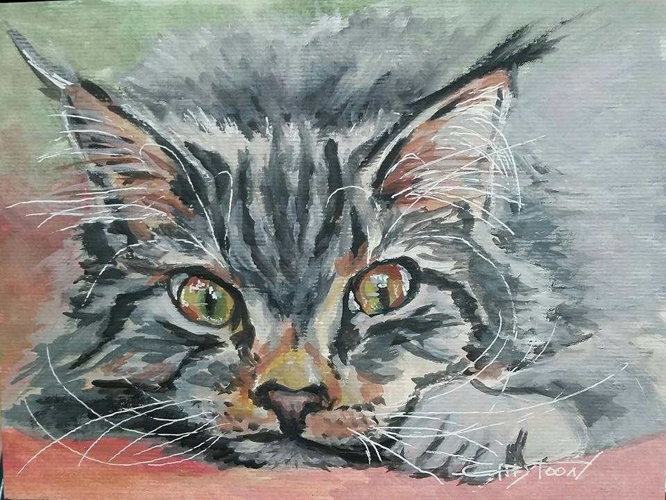 """""""Sweet Kitten"""" original fine art by Gabriella DeLamater"""