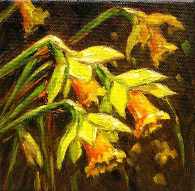 """Daffodils"" original fine art by Irina Beskina"