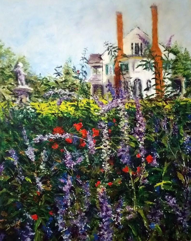 """""""Belmont, Through the Garden"""" original fine art by Jill Brabant"""