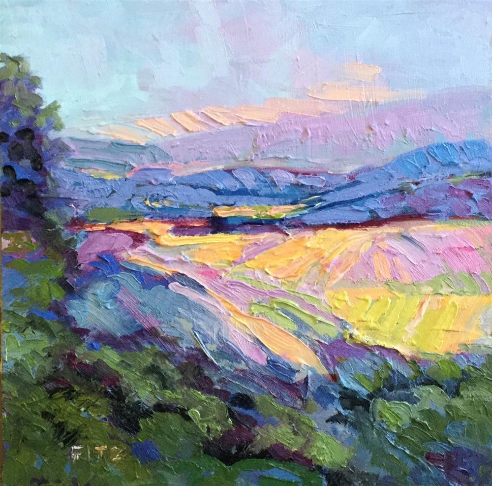 """Impasto Landscape 52"" original fine art by Charlotte Fitzgerald"
