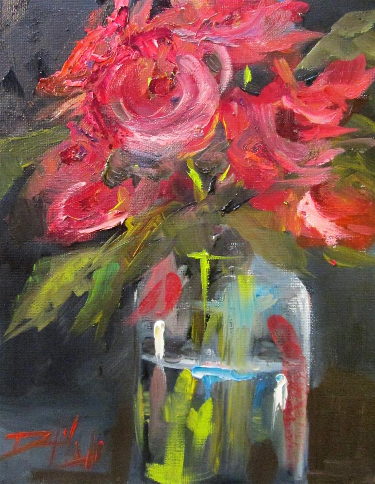 """Floral Still Life NO. 17"" original fine art by Delilah Smith"