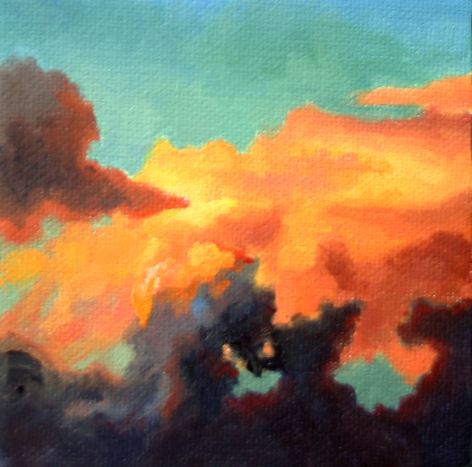 """""""Riders on the Storm"""" original fine art by K.R. McCain"""
