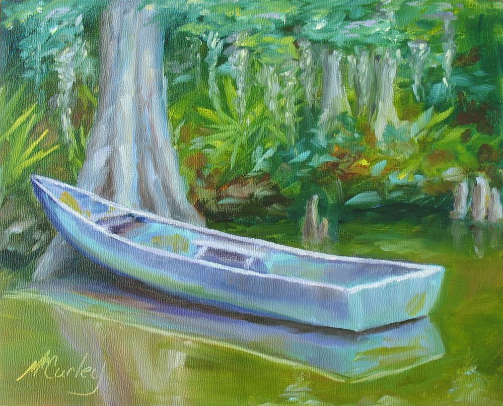 """Boat on the Bayou"" original fine art by Melisa McCurley"