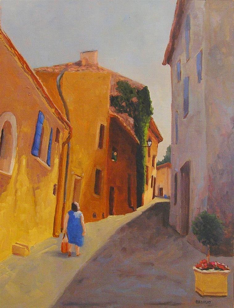 """Sunny Side of the Street"" original fine art by Nina Brodsky"