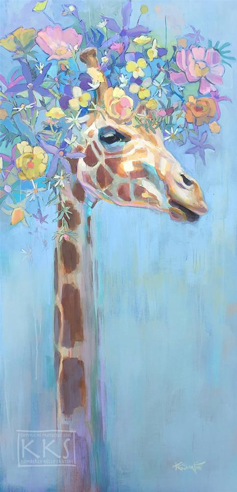 """Celestrial"" original fine art by Kimberly Santini"
