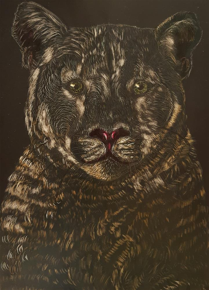 """Mountain Lion"" original fine art by Phyllisha Hamrick"