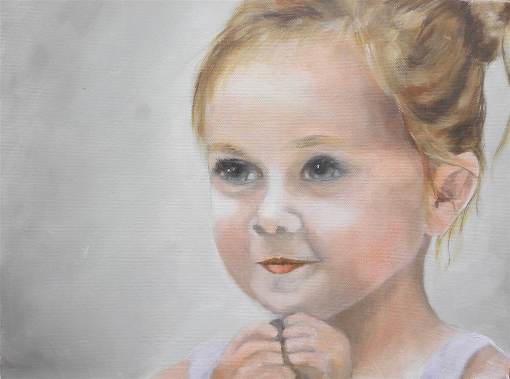 """Millie at 3"" original fine art by cheryl buhrman"