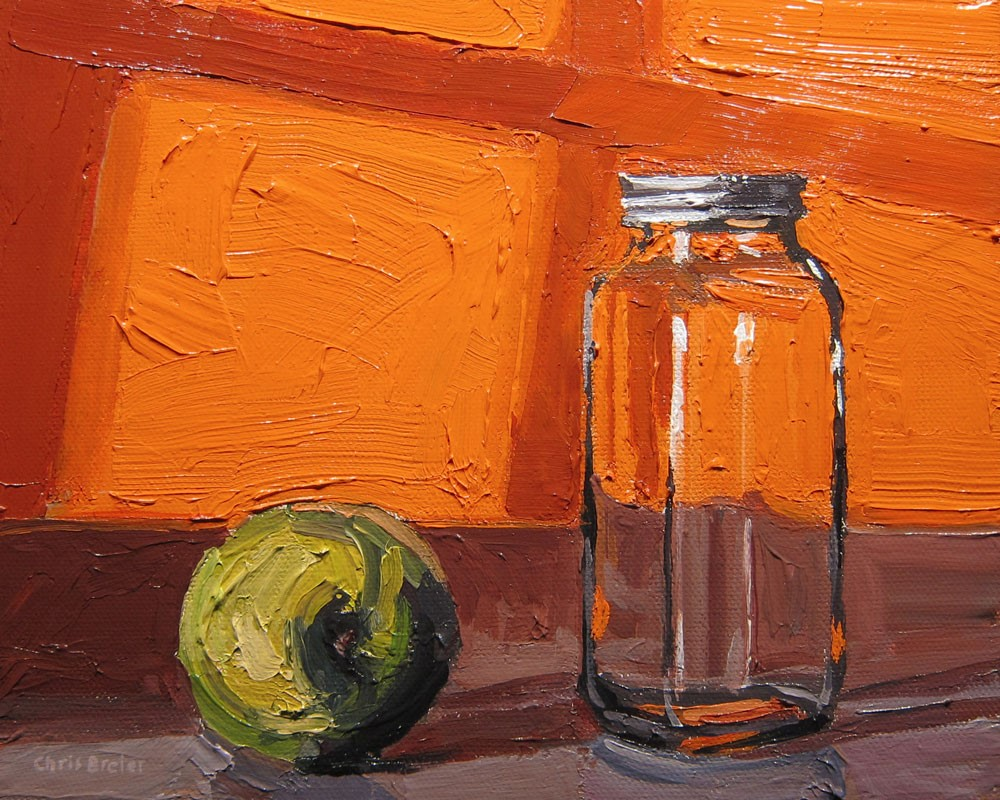 """Granny Smith With Bottle"" original fine art by Chris Breier"