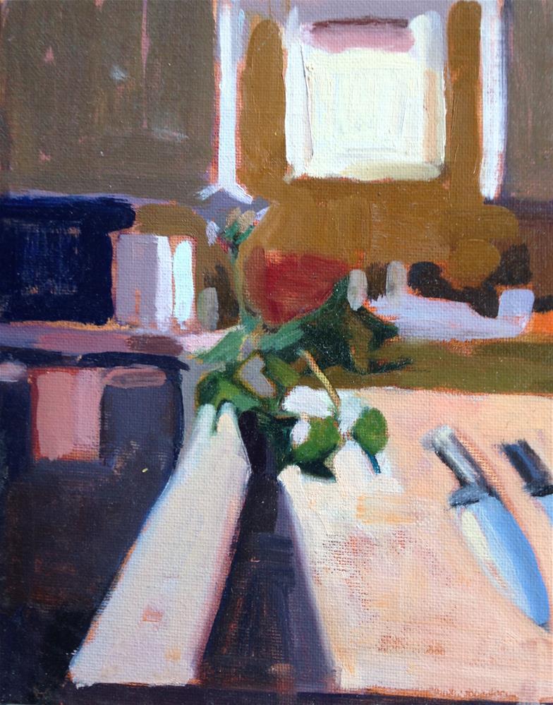 """Tucson Kitchen-Eastern Light Jan 2016"" original fine art by Pamela Hoffmeister"