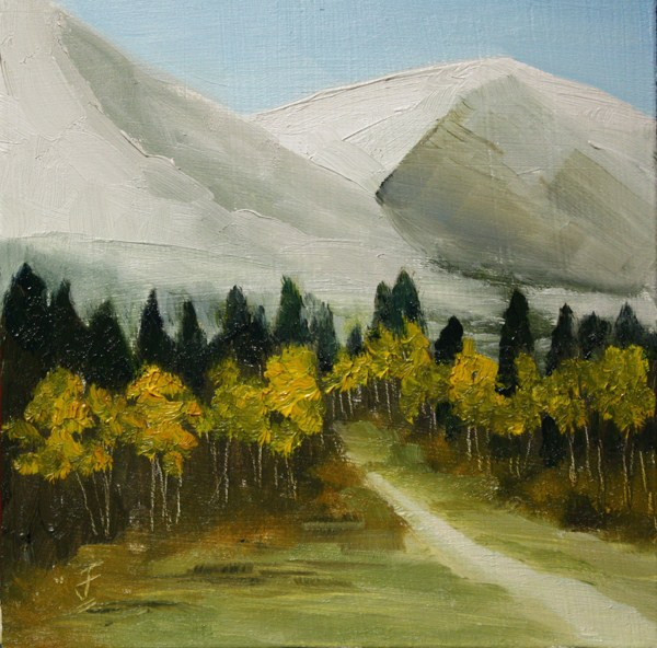 """Fall Hike"" original fine art by Jane Frederick"