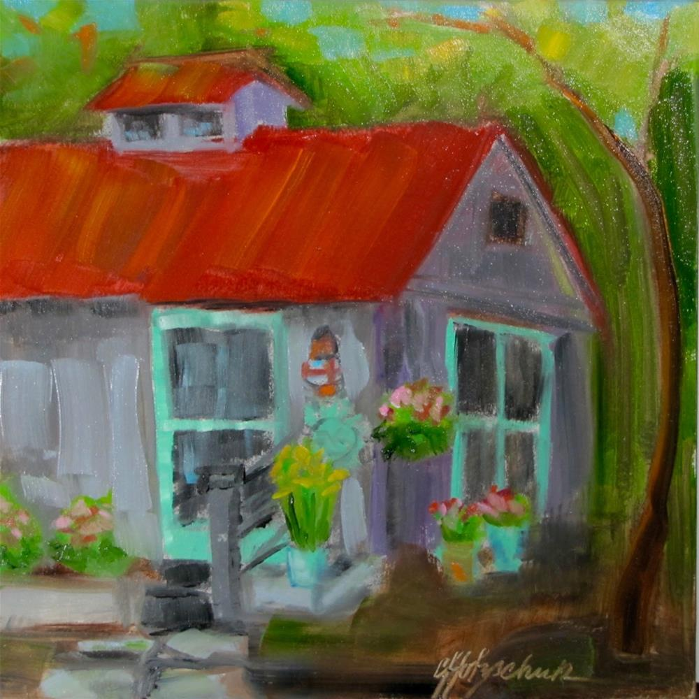 """""""Guest House"""" original fine art by Christine Holzschuh"""
