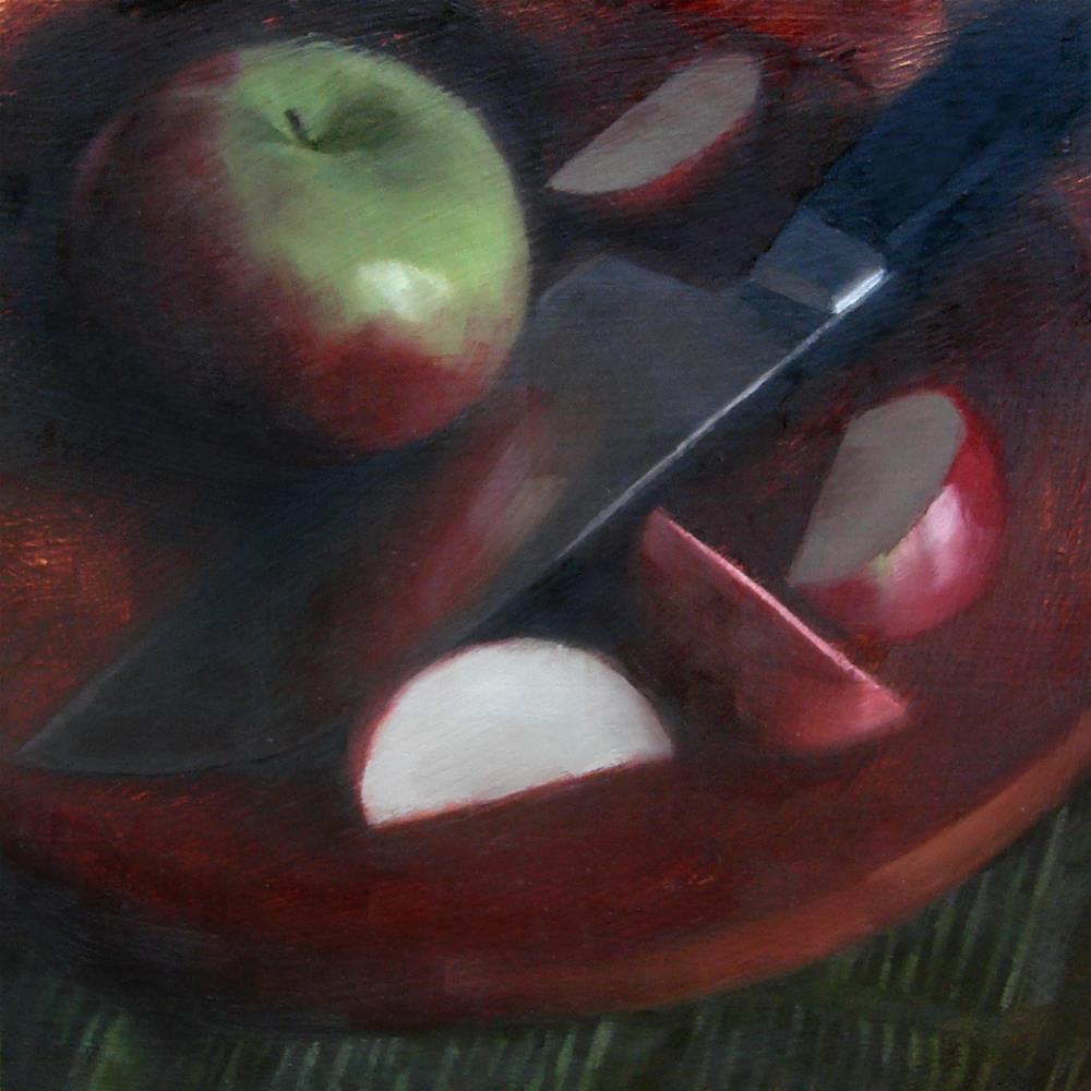 """Sliced Cortland Apple (no.105)"" original fine art by Michael William"