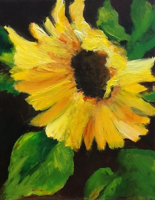 """Sunflower Radiance"" original fine art by Elaine Ford"