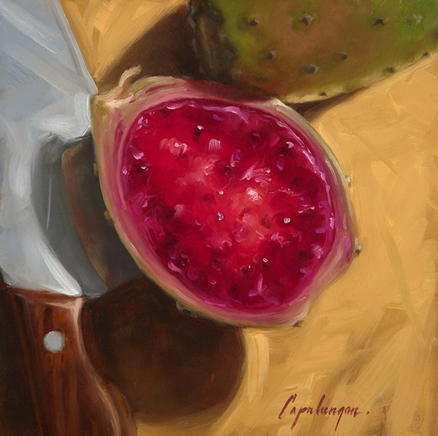 """Prickly Pear"" original fine art by David Capalungan"