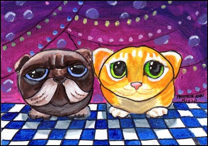"""""""Good Friends"""" original fine art by Patricia Ann Rizzo"""