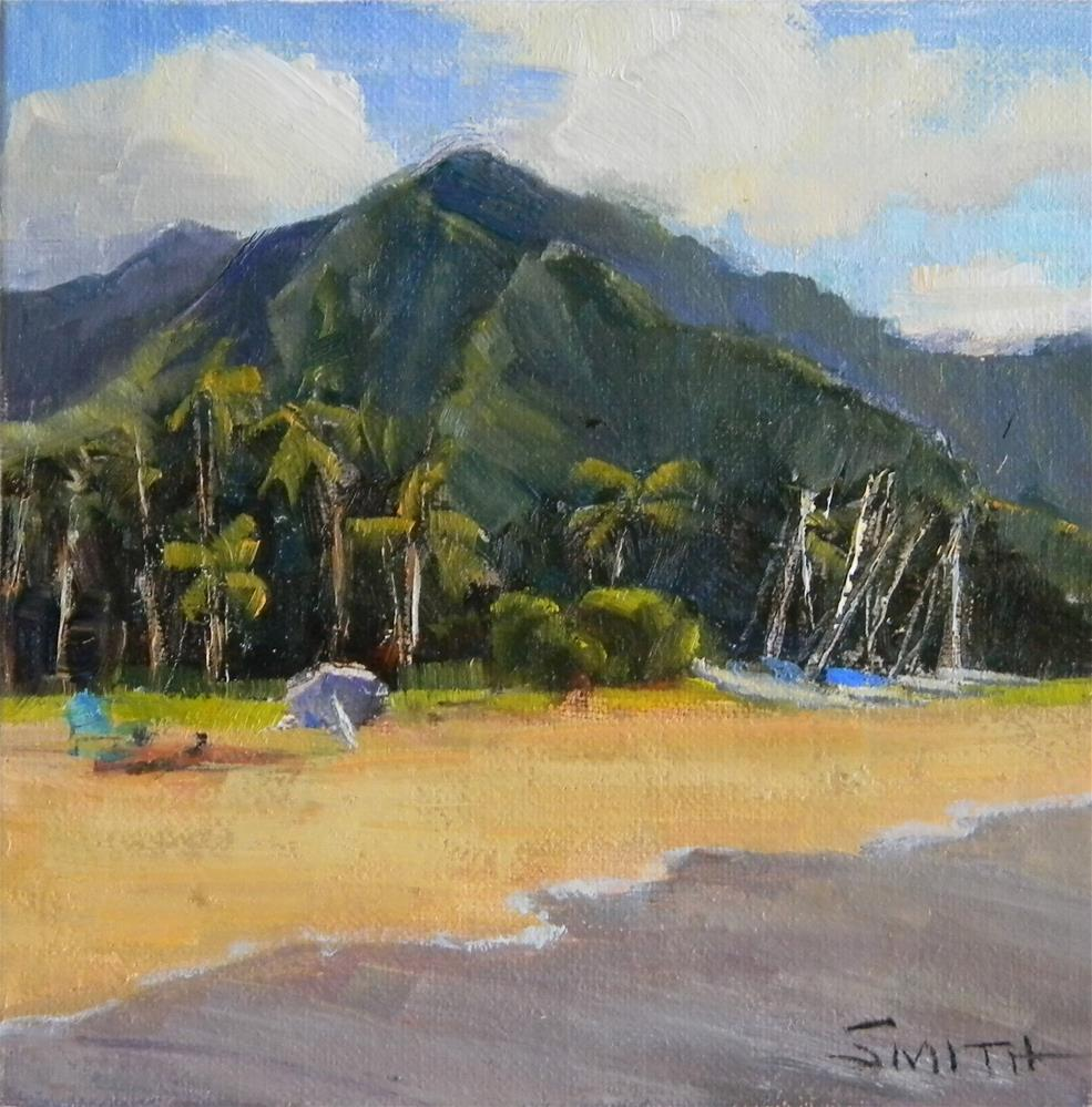 """Hanalei Beach, Kauai"" original fine art by Barbie Smith"
