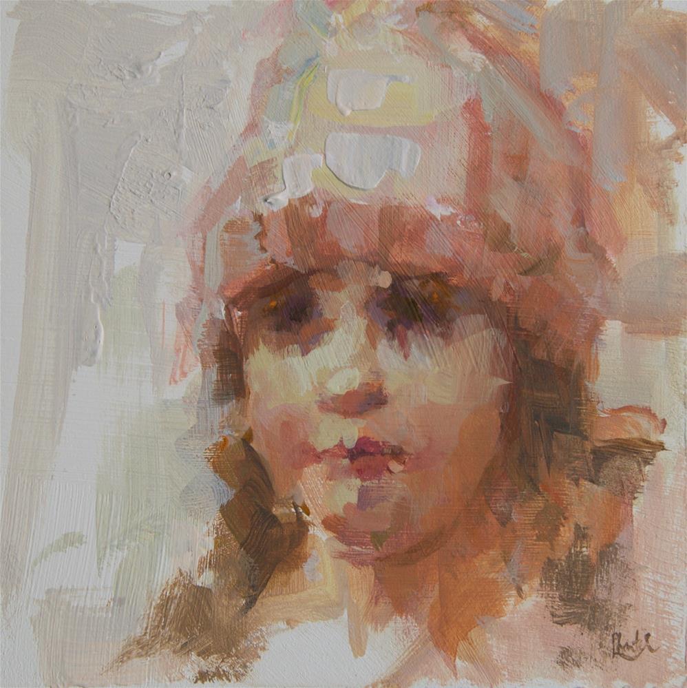 """Today's Hat"" original fine art by Chantel Barber"