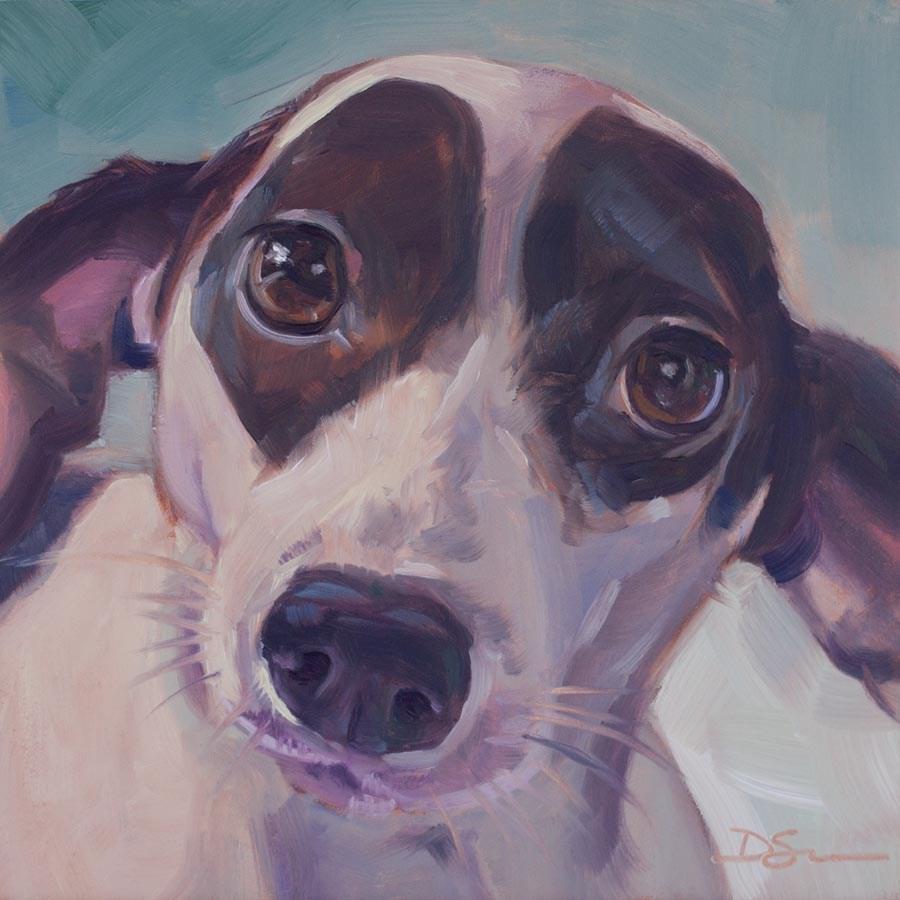 """Eyes of Love No.27 Dottie"" original fine art by Deborah Savo"