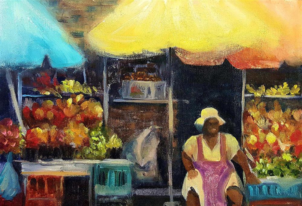 """MARKET DAY"" original fine art by Ronel Alberts"