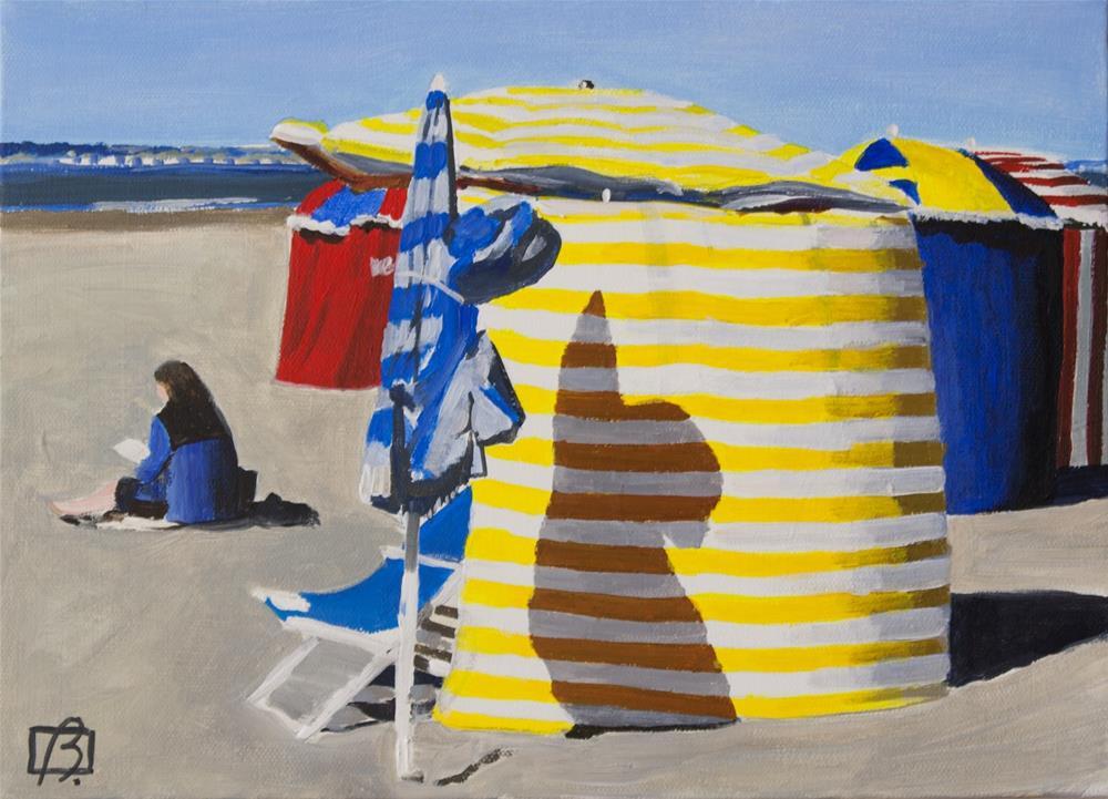 """Deauville Deux"" original fine art by Andre Beaulieu"