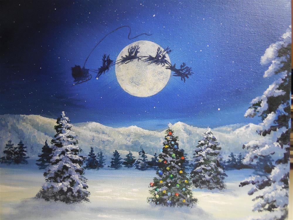 """""""Winter Wonderland"""" original fine art by Terri Nicholson"""