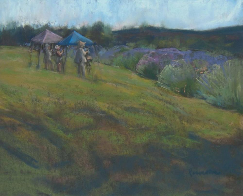 """Ladies of the Lavender"" original fine art by Sarah Peroutka"