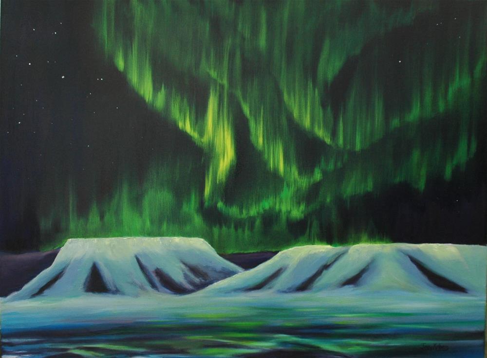 """Light Dance"" original fine art by Jenny Kinberg"