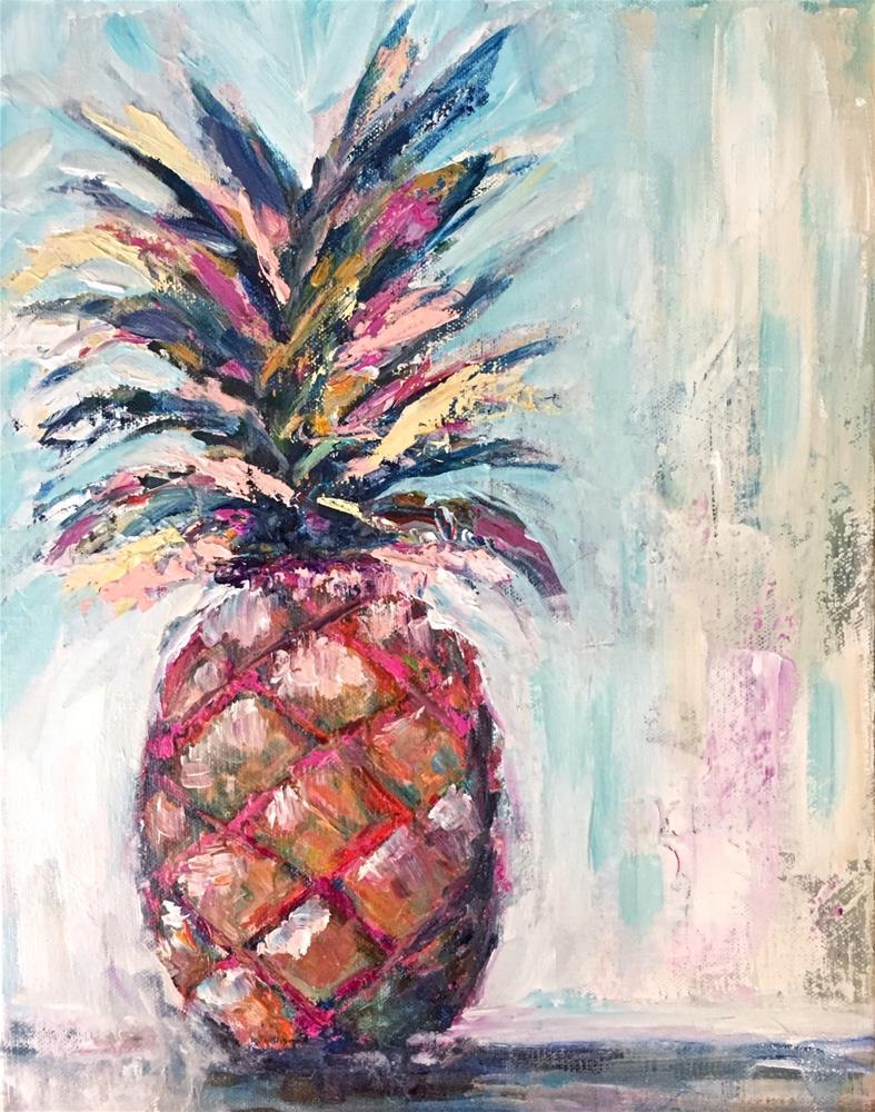 """""""Pineapple Crush"""" original fine art by Melissa Gresham"""