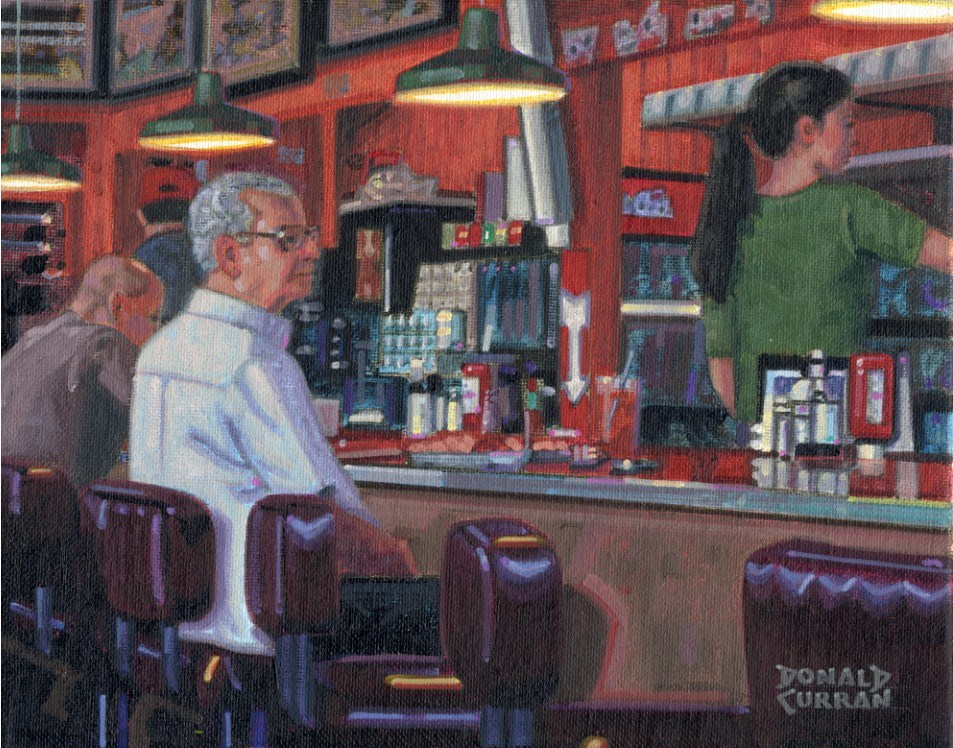 """Lunch Time"" original fine art by Donald Curran"
