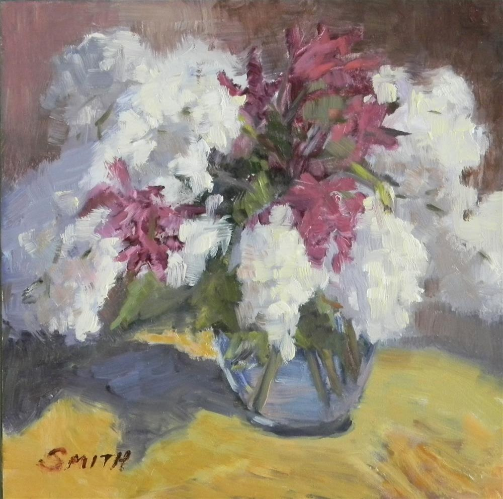 """""""Lilacs and Orchids"""" original fine art by Barbie Smith"""
