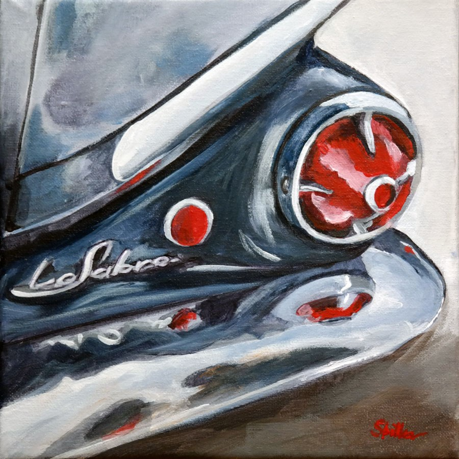 """1629 Buick Le Sabre"" original fine art by Dietmar Stiller"