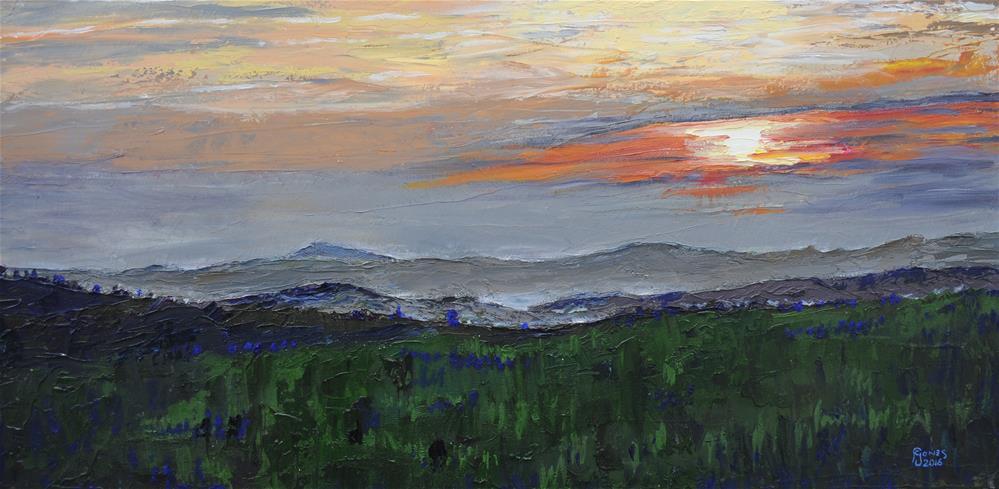 """""""Blue Ridge Dusk"""" original fine art by Fred Jones"""