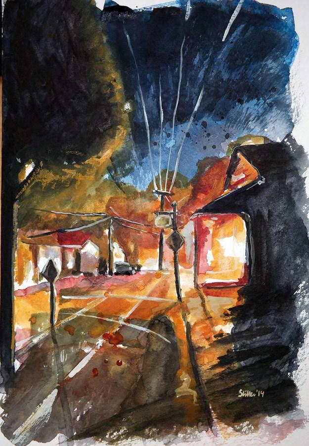 """""""1224 Evening of Tranquility"""" original fine art by Dietmar Stiller"""