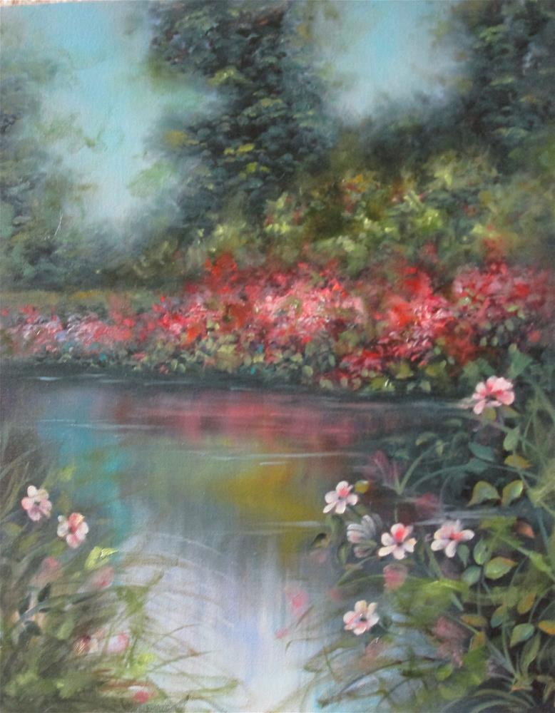 """""""Reflections on the Lake"""" original fine art by Barbara Wagner"""