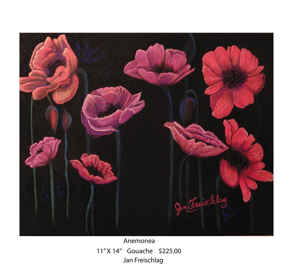 """""""Anemonea"""" original fine art by Janice Freischlag"""