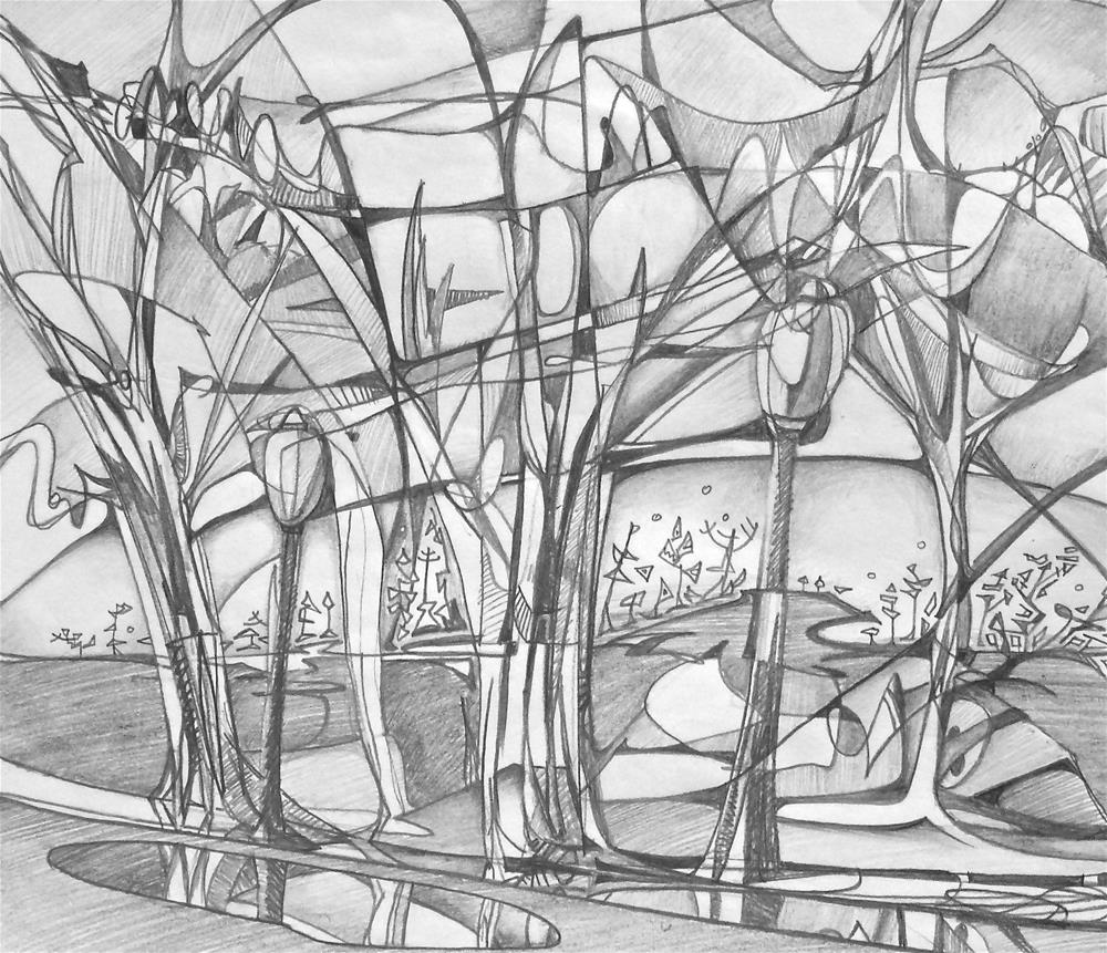 """String Theory"" original fine art by Mark Allison"