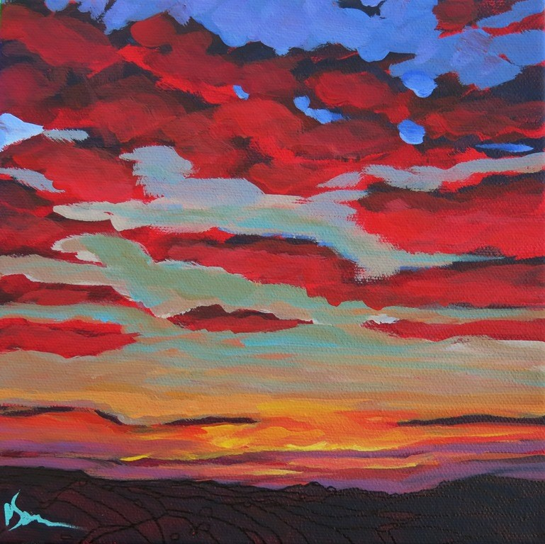 """SHADES OF RED"" original fine art by Dee Sanchez"