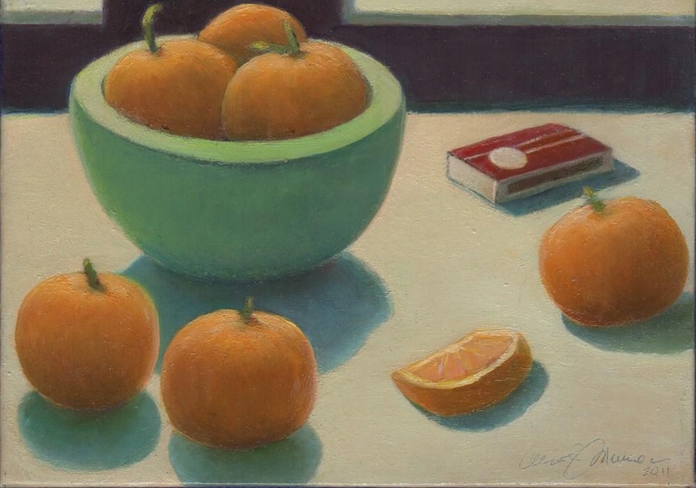 """Tangerines"" original fine art by Carol L Adamec"