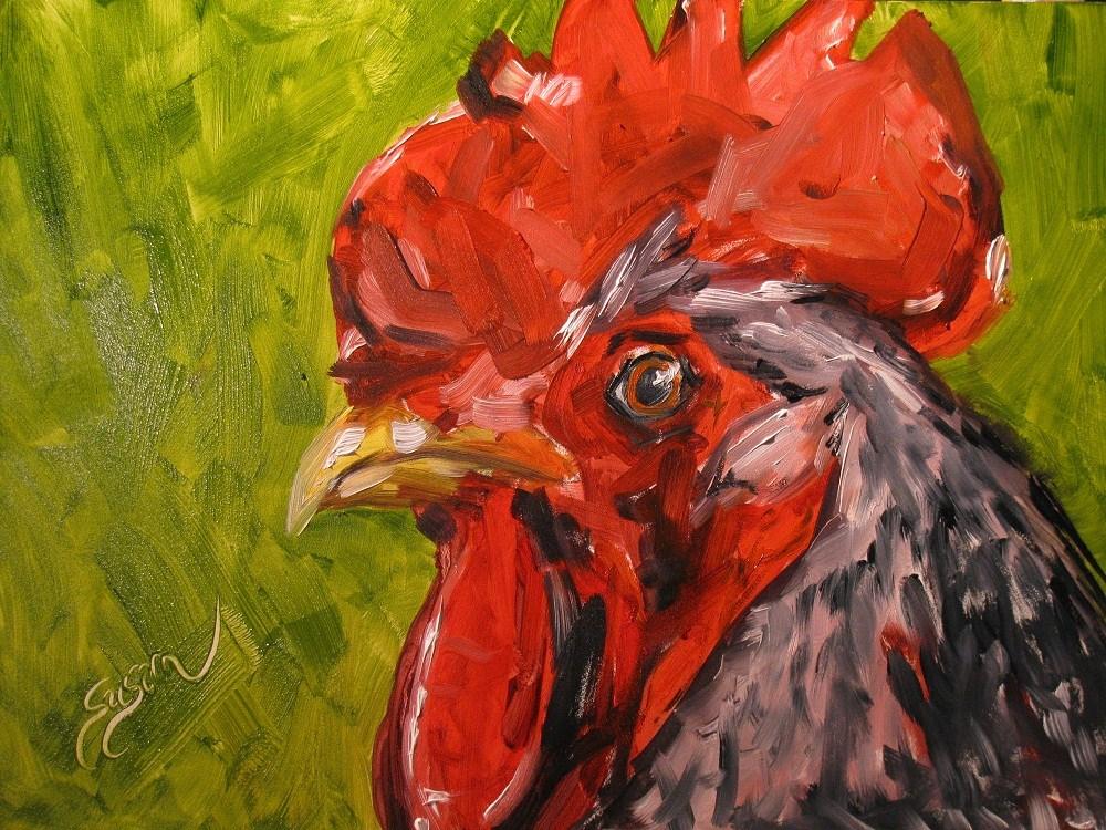 """The Sentry"" original fine art by Susan Elizabeth Jones"