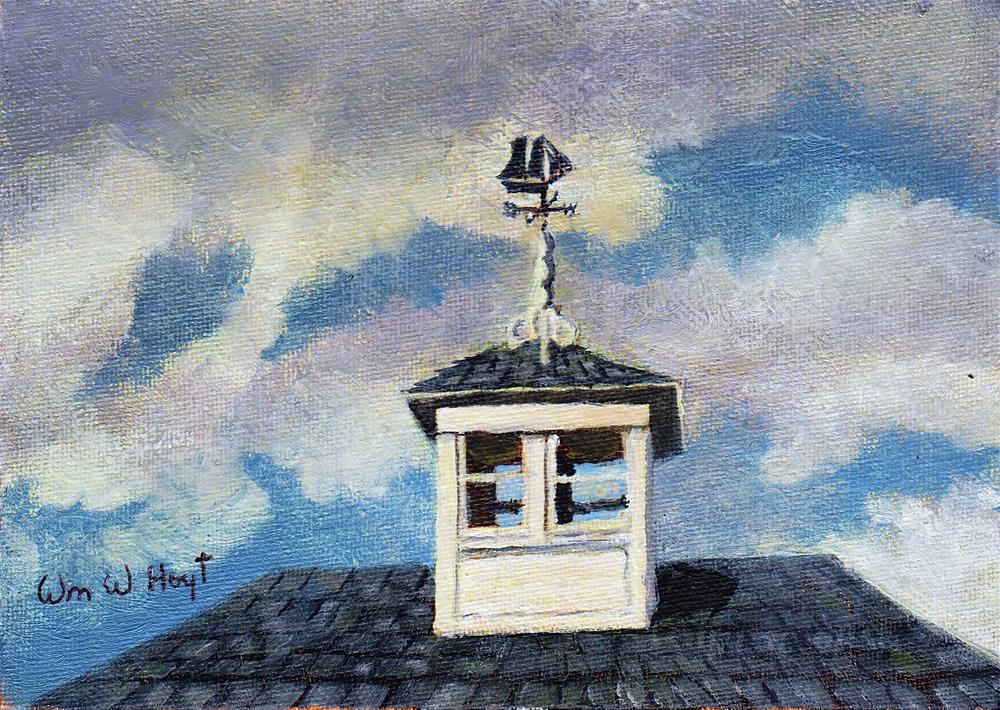 """Weathervane"" original fine art by William W. Hoyt"