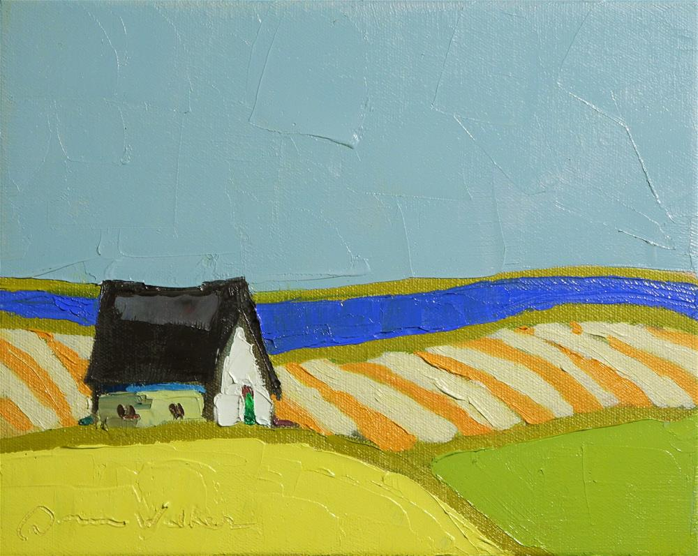 """Orange Stripes"" original fine art by Donna Walker"