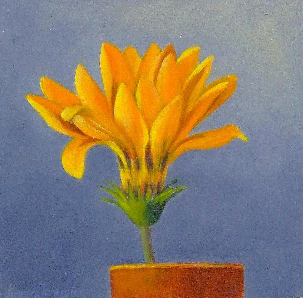 """Gazania"" original fine art by Karen Johnston"