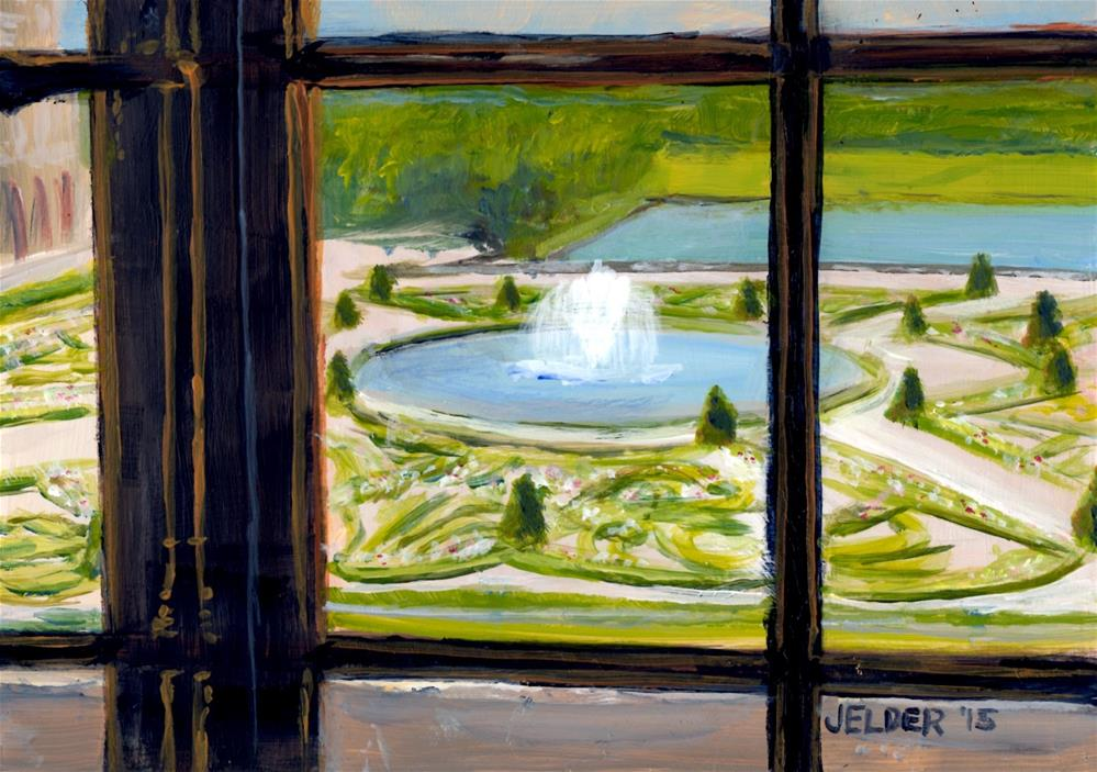 """View From the Palace Window"" original fine art by Judith Elder"