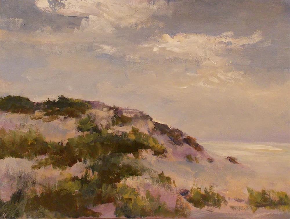 """"""" WINTER AT THE BEACH """" original fine art by Doug Carter"""