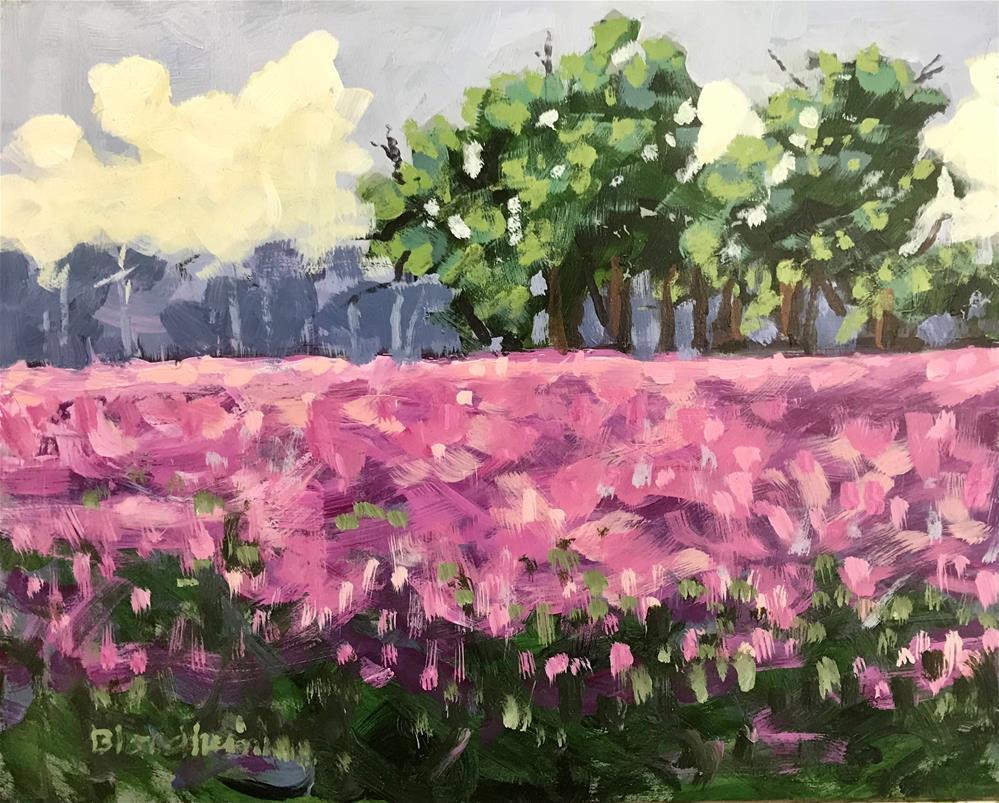 """""""Pink Field"""" original fine art by Linda Blondheim"""