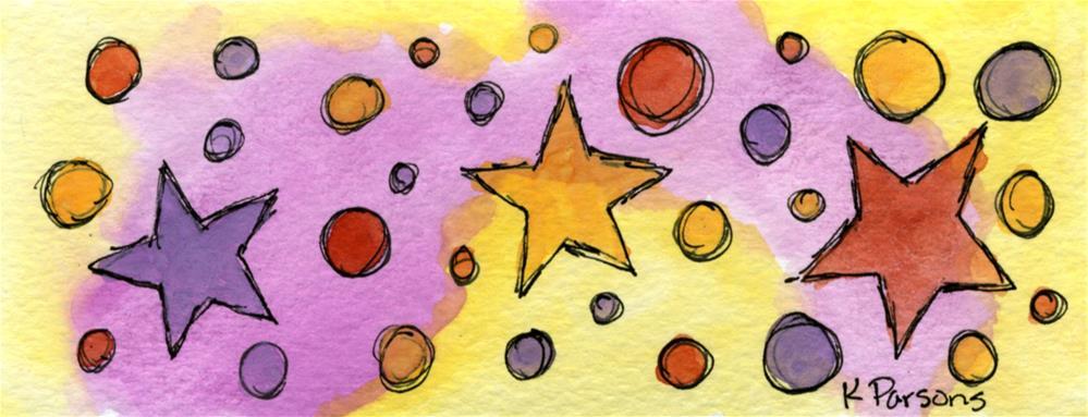 """Stars and Circles"" original fine art by Kali Parsons"