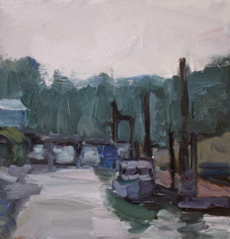 """Ucluelet Harbor"" original fine art by Kathryn Townsend"