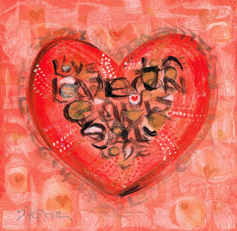 """""""Love Conquers All"""" original fine art by Theresa Taylor Bayer"""